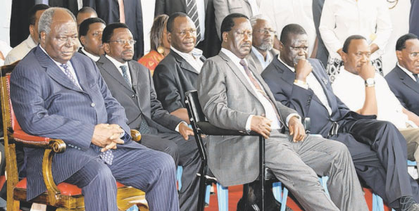 Kibaki and Raila