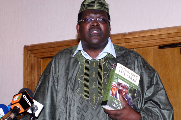 Miguna Miguna at his book launch