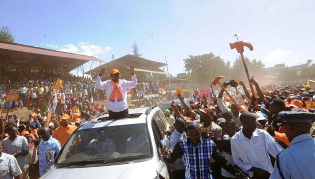 Raila in Baringo