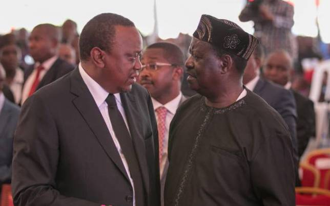 Uhuru and Raila(2)